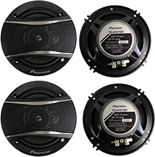 PIONEER TS-A1676R 6.5 Inch 3-Way 320 Watt Car Coaxial Stereo Speakers Four (4) Speakers Included