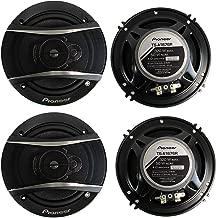 4 Pioneer 6.5 Inch 3-Way 640 Watt Car Coaxial Stereo Speakers Four   TS-A1676R