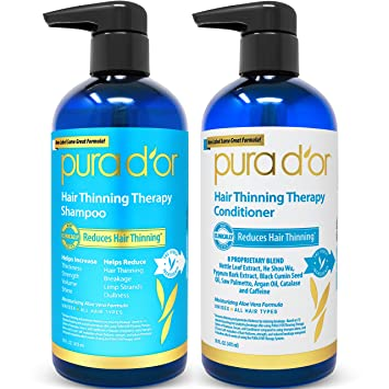 PURADOR Hair Therapy System - Biotin Shampoo & Conditioner Set