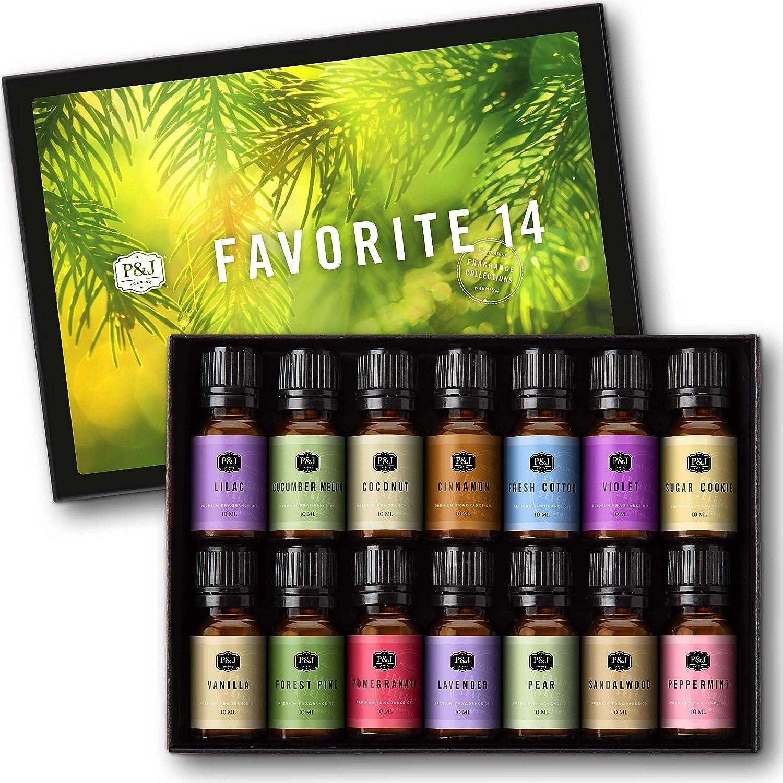 Favorites Set of 14 Premium Grade Oils - Max 90% OFF Chicago Mall 10ml Fragrance