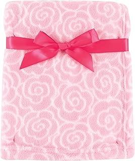 Luvable Friends Print Coral Fleece Blanket, Pink Rose