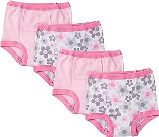 gerber 婴儿 女婴 4 件装 训练裤 粉色花朵 18 个月