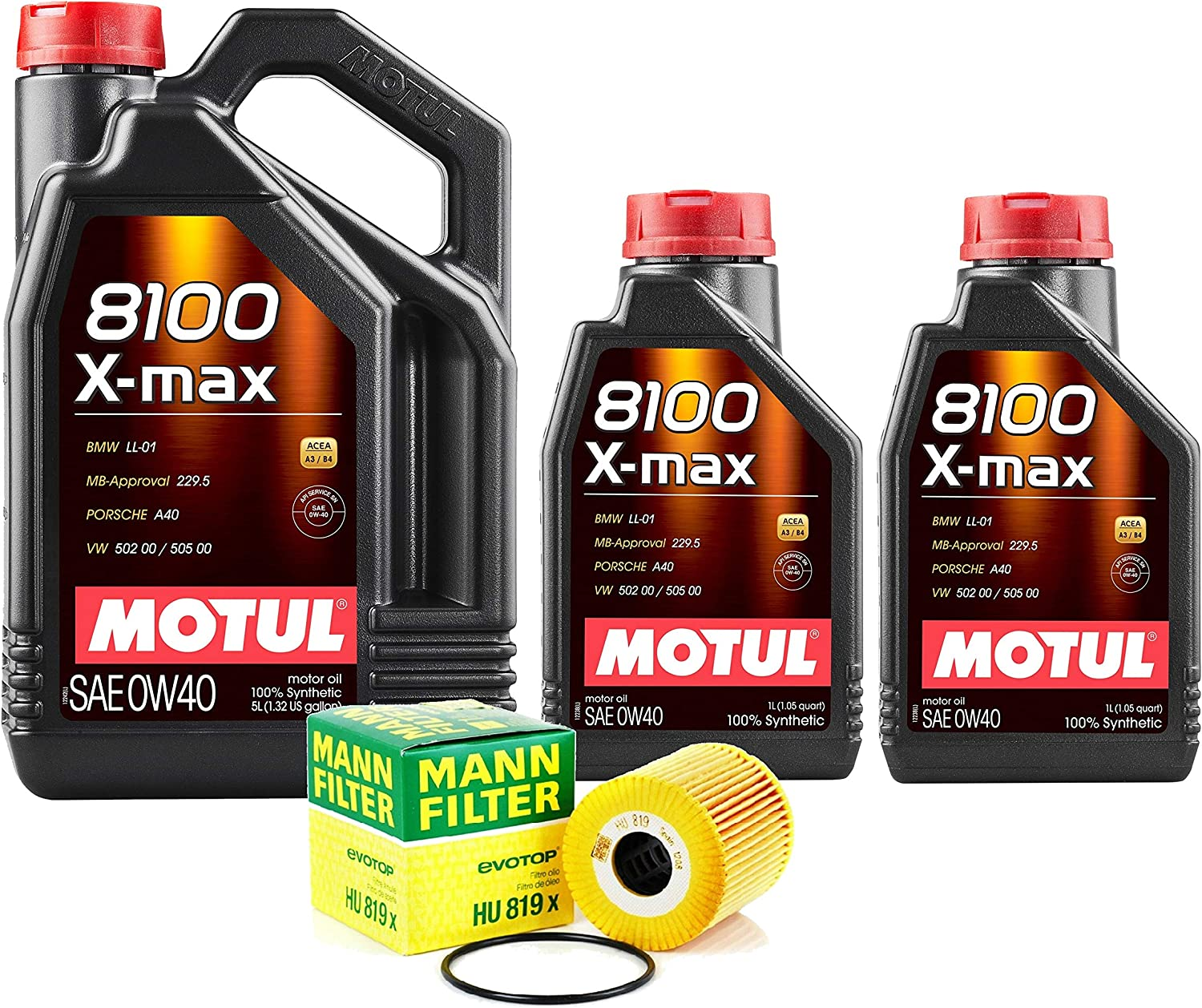 Newparts 7L 8100 X-MAX 0W40 Filter SEAL limited product Engine Motor Oil Change S Max 57% OFF Kit