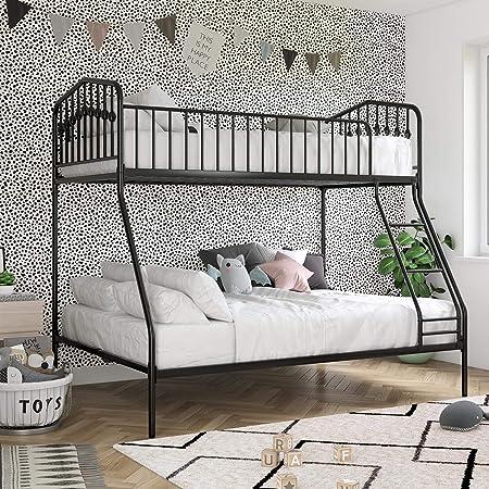 Black girl white guy sex on bunk bed Amazon Com Novogratz Bushwick Metal Bunk Bed Kid S Bedroom Furniture Twin Full Black Home Kitchen