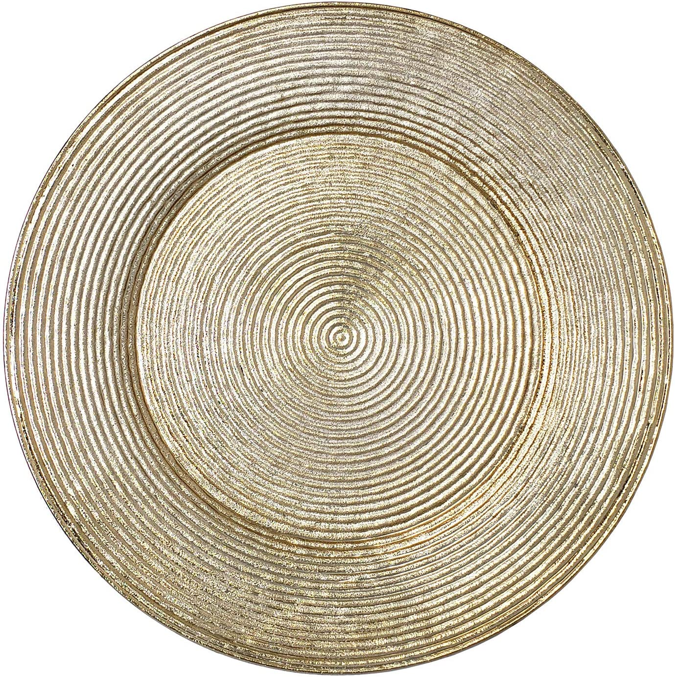 Lovely Christmas Dinnerware Formal 13-Inch Charger Spiral Dallas Latest item Mall Round