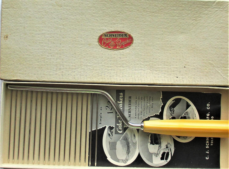 Ranking TOP1 famous Vintage Cake Slicer Breakerw Handle Cellulite Yellow
