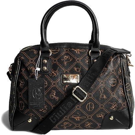 Damenhandtasche von Giulia Pieralli - Damen GlamourHandtasche Damentasche Tasche Henkeltasche Schultertasche Umhängetasche (Schwarz) - präsentiert von ZMOKA®
