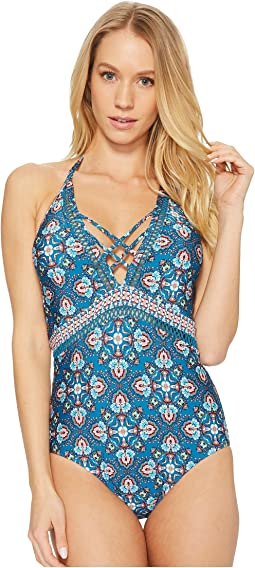 Butterfly Twin Plunge One-Piece Swimsuit