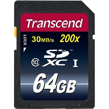 Transcend SDXCカード 64GB Class10 (無期限保証) TS64GSDXC10E (FFP)【Amazon.co.jp限定】