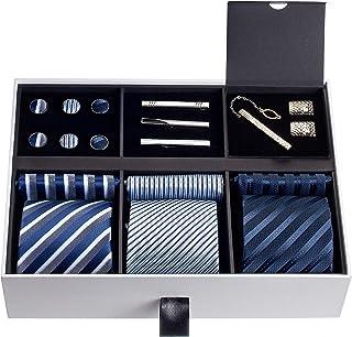قسط الرجال ربطة عنق مجموعة حريرية جيب مربعات ربطة عنق أزرار أكمام للرجال