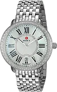 Women's Serein Swiss-Quartz Watch with Stainless-Steel Strap, Silver, 16 (Model: MWW21B000030)