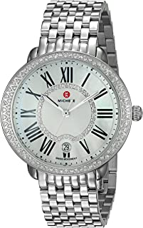 Women's Serein Swiss-Quartz Watch with Stainless-Steel Strap, Silver, 16 (Model: MWW21B000030)
