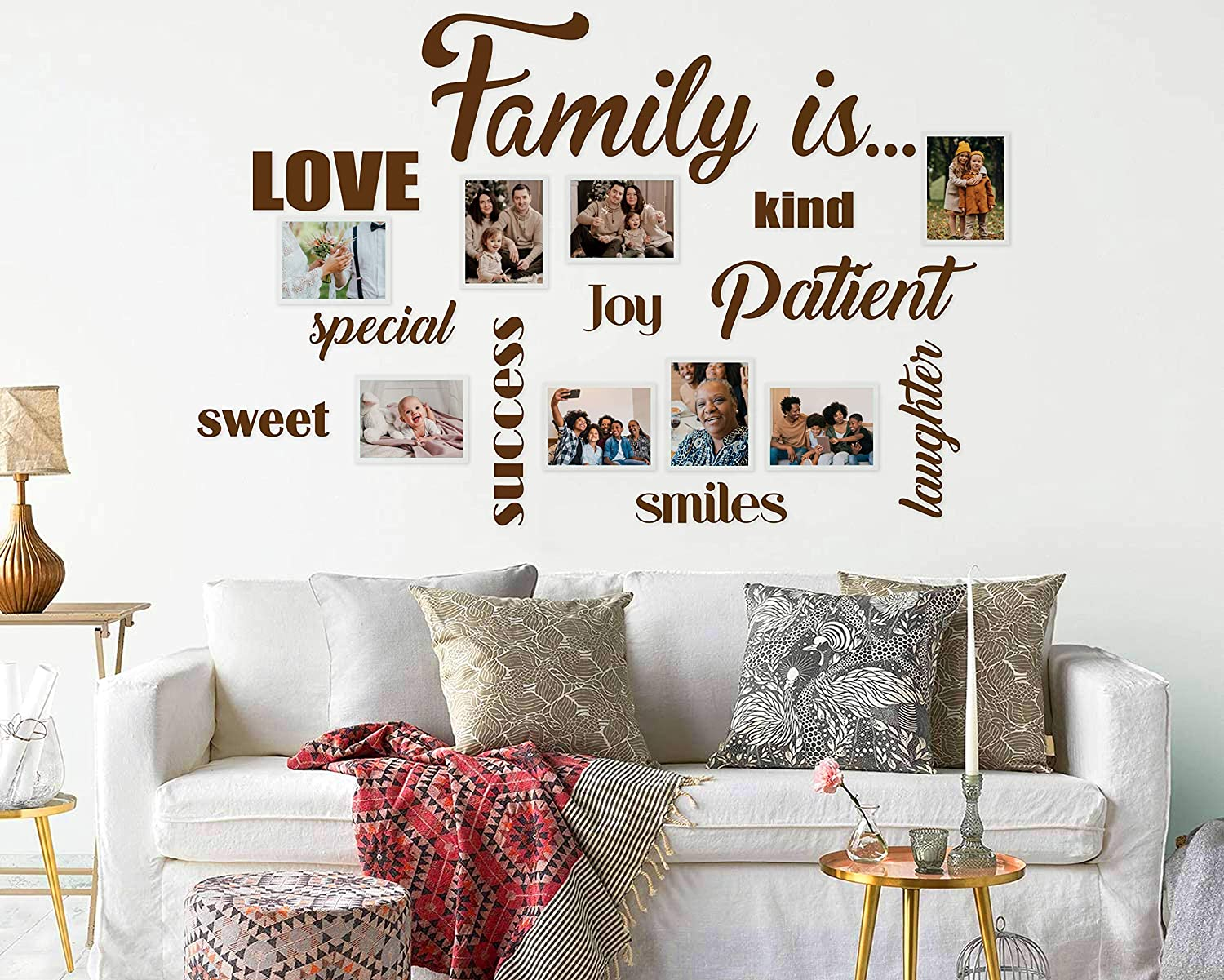 2021 Cheap sale spring and summer new Family Wall Words Vinyl Decals Wa is for Picture