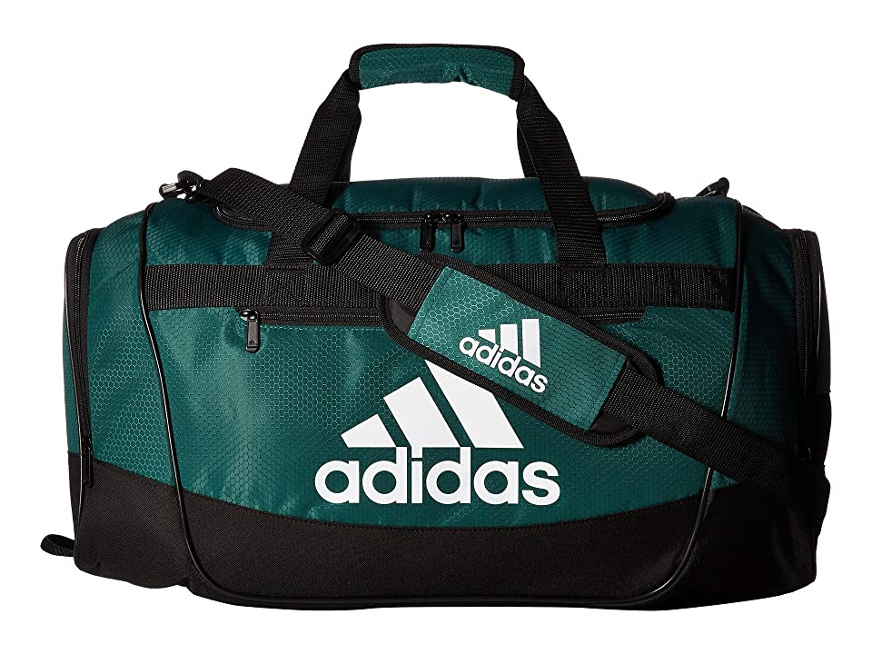 adidas Defender III Medium Duffel (Collegiate Green/Black/White) Bags