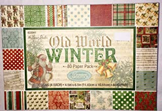Old World Winter Christmas Scrapbooking Paper Pack 4.5x6.5, 80 sheets