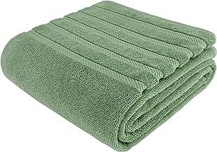 منشفة حمام American Soft Linen 100% من القطن التركي الأصلي، كبيرة الحجم 35x70 مناشف فاخرة فاخرة وفاخرة للحمام، فائقة النعو...