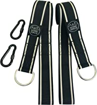 Tree Swing Hanging kit by Outdoor People -2x10ft Straps inc Heavy Duty Carabiners in Handy Lightweight Travel Carry bag - Hangs Hammocks Swings Tires to 2000lbs - Easy-hang in Garden Garage or Camping