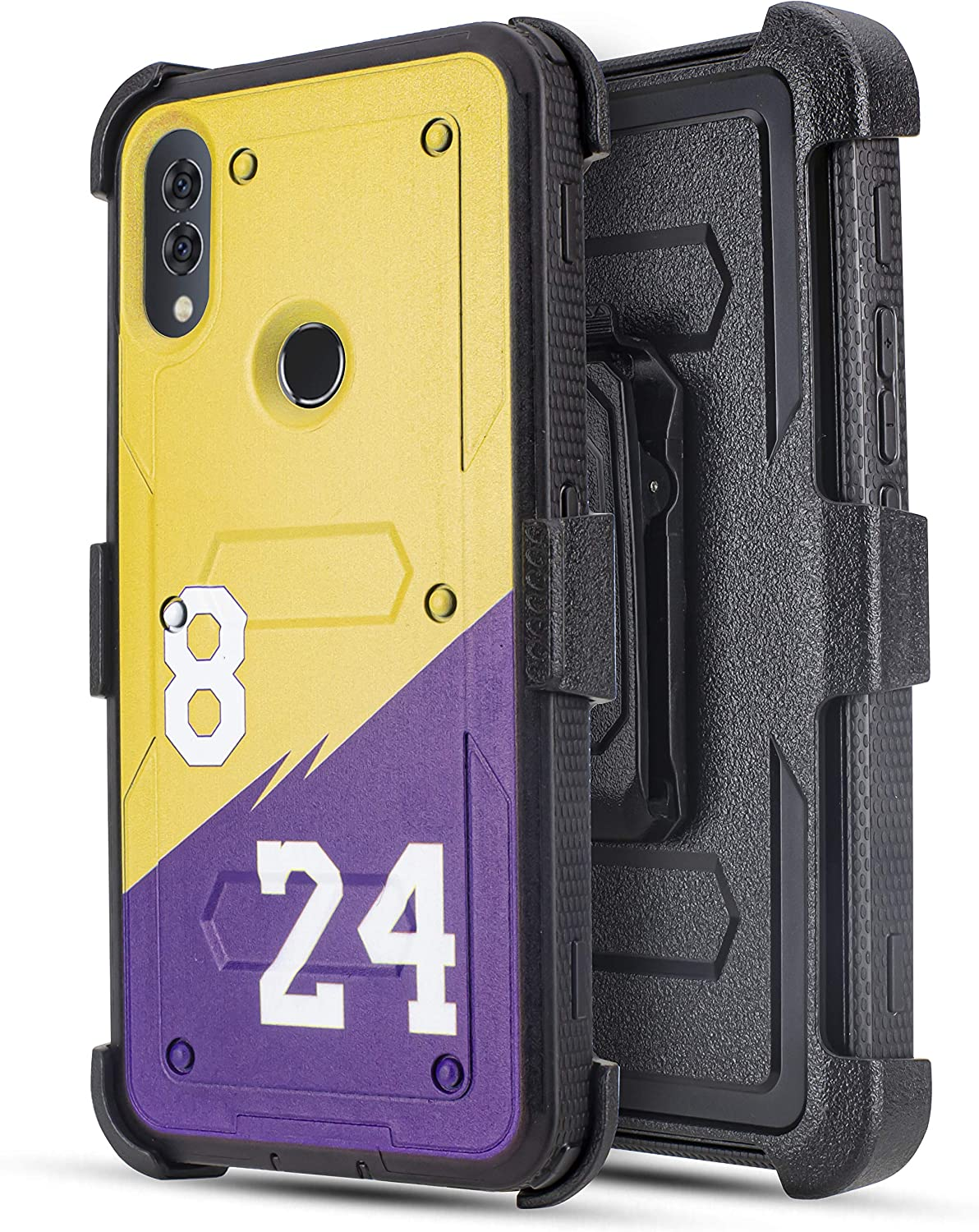 Customerfirst Case for Alcatel 3V 2019/5032W (Will Not Fit Alcatel 3V 2018), Built-in [Screen Protector] Heavy Duty Holster Cover [Belt Clip][Kickstand] (24)