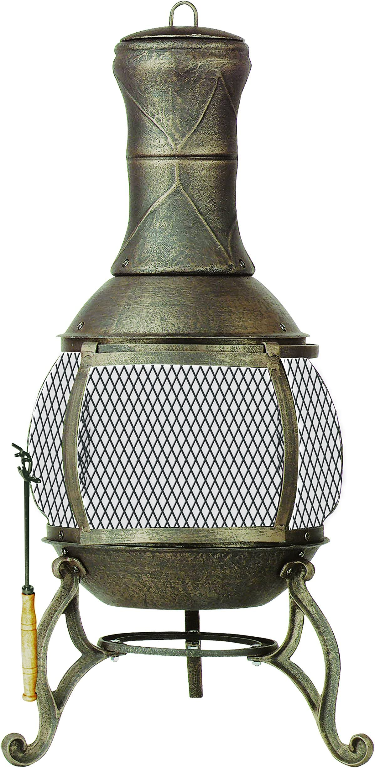 Deckmate Corona 3 Ft. High Outdoor Steel Chimenea Fireplace Model 28063