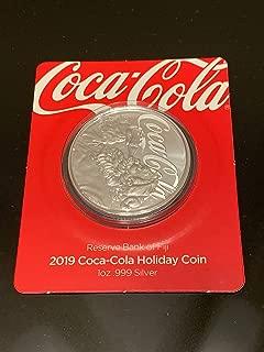 2019 FJ Fiji 2019 Fiji Coca Cola 1 oz Holiday Coin $1 Not Graded Ungraded BU