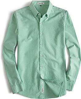 Men's Oxford Dress Shirt-Cotton Casual Regular Fit Long Sleeve Shirt