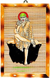 DC ECO Home Decor/HANDICRAFTS/Gift Item/Religious Idol/Lord SAI Baba/Wall Hanging/Bamboo Product (Made in India)