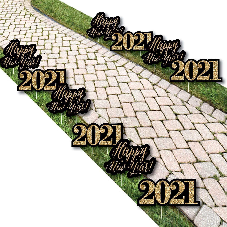 Big 高品質 Dot of Happiness New Year's Eve Gold 高級な Lawn Decoratio - 2021