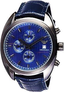 ساعة رجالية من امبوريو ارماني كرونوغراف بسوار جلدي Ar6126، انالوج