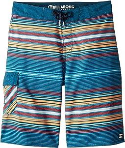 All Day Stripe OG Boardshorts (Big Kids)