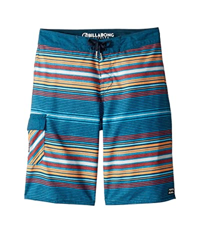 Billabong Kids All Day Stripe OG Boardshorts (Big Kids) (Navy) Boy
