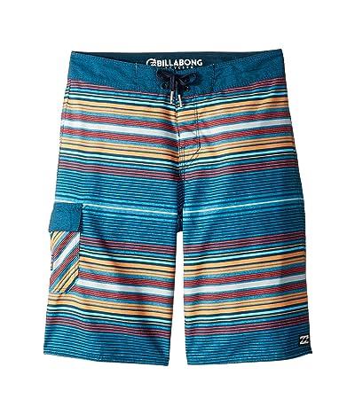 Billabong Kids All Day Stripe OG Boardshorts (Big Kids) (Navy) Boy