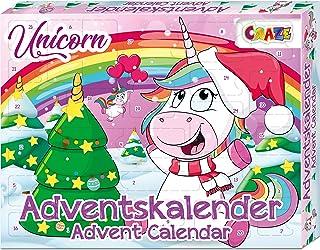 CRAZE Kalendarz adwentowy UNICORN urocze figurki jednorożca kalendarz bożonarodzeniowy 2021 dla dziewczynek i chłopców dzi...