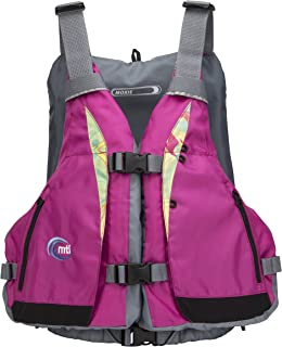 MTI Adventurewear Women's Moxie PFD Life Jacket with Adjust-a-Bust, Berry/Caribe Print, X-Small/Small