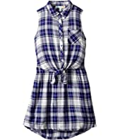 C&C California Kids - Yarn-Dye Woven Dress (Little Kids/Big Kids)