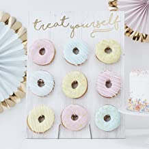 Ginger Ray Gold Foiled Treat Yourself Donut Wall Party Display Fits 9 Doughnuts