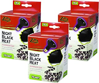Zilla Night Black Incandescent Spot Heat Bulb 75 Watt (3 Pack)
