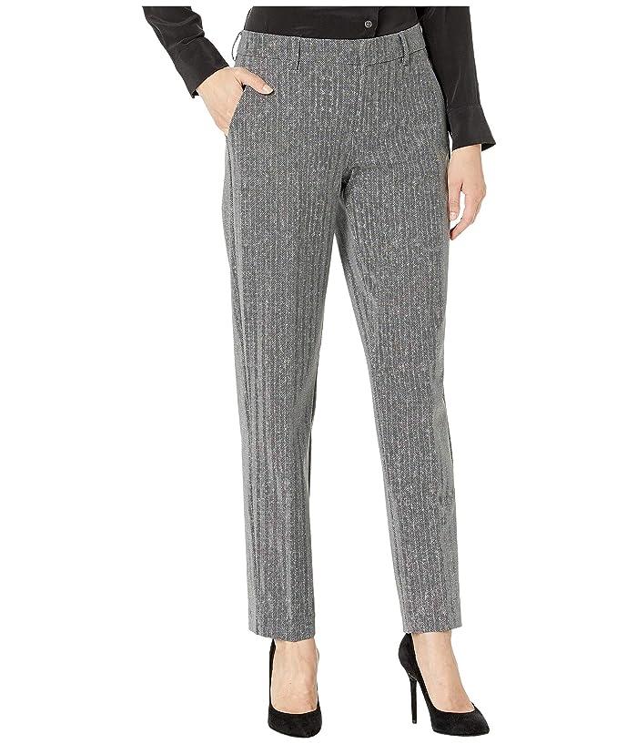 Liverpool  Kelsey Knit Trousers in Printed Herringbone Knit (Grey/Black) Womens Casual Pants