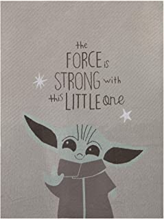 Lambs & Ivy Star Wars Baby Yoda Mandalorian Grogu/The Child Knit Baby Blanket