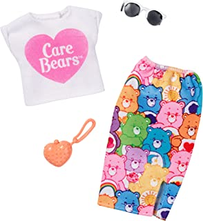 Barbie Care Bear White Top & Colorful Skirt Fashion Pack