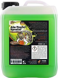 TUGA Chemie Alu-Teufel speciale velgenreiniger, actieve gel voor glanzende aluminium velgen dankzij zuurvrije vuilverwijde...