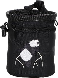 AMC Rock Climbing Panda Embroidered Chalk Bag w/Zip Pocket