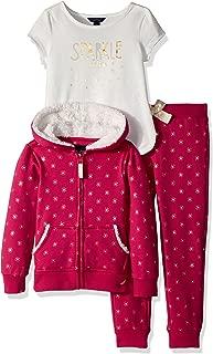 Nautica 女童连帽衫,针织上衣和羊毛慢跑裤