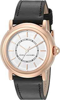 Marc Jacobs Women's Courtney Black Leather Watch - Mj1450, Black Band, Analog Display