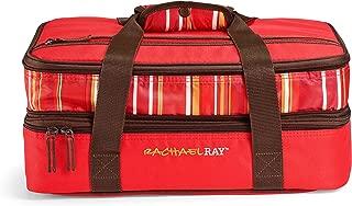 Rachael Ray Expandable Potlucker Bag Food Saver, 15-Cup Food Saver, Red Stripe