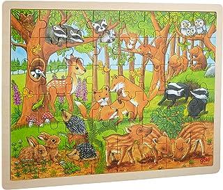 Goki- Puzzle Bébés Animaux dans la forêt 48 Pieces, 57734, Multicolore