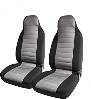 West Coast Auto Car Seat Cover, Large Size to Fit Trucks, SUVs, 4WDs and Big Seats. Heavy Duty Truck, Premium Micro Mesh, Airbag Compatible (2pcs) (gray)