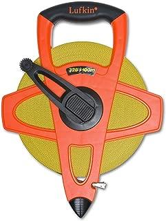 "Crescent Lufkin 1/2"" x 100m/328' Hi-Viz Orange Fiberglass SAE/Metric Dual Sided Tape Measure - FM100CME"
