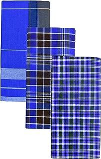 Indian Men/'s Large Sarong Lungi 100/% Cotton Bhagalpuri Handloom Free Shipping