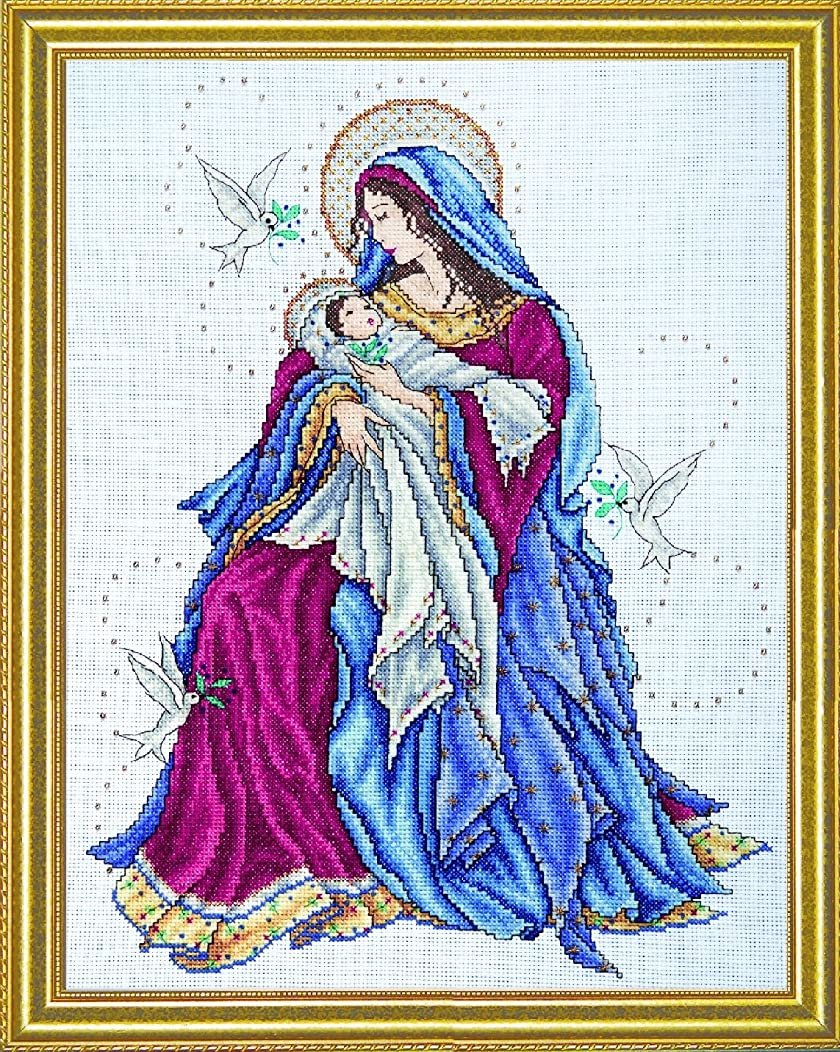 Tobin Counted Cross Stitch, Madonna and Child, 12 by 15 inches
