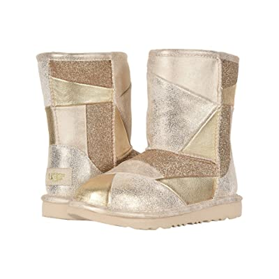 UGG Kids Classic Short II Patchwork (Little Kid/Big Kid) (Gold) Girls Shoes